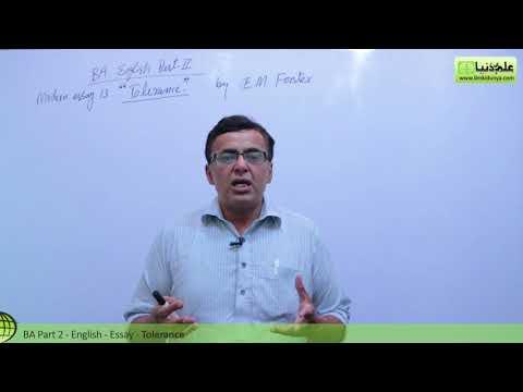 BA English Modern Essay 13 Tolerance BA Part 2 Punjab University