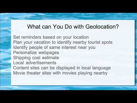 What can You Do with Geolocation Information?