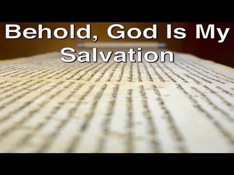 November 21, 2020 - Behold, God Is My Salvation - Rabbi Larry Feldman