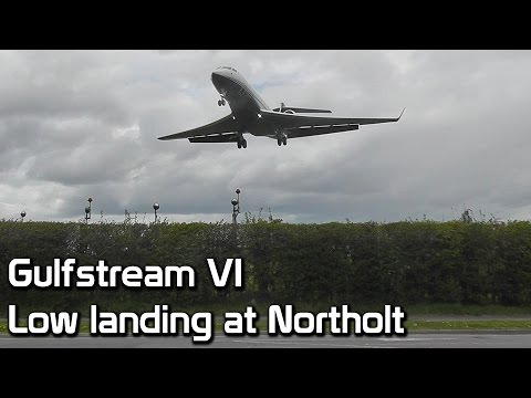 Gulfstream VI coming in low at RAF Northolt - London