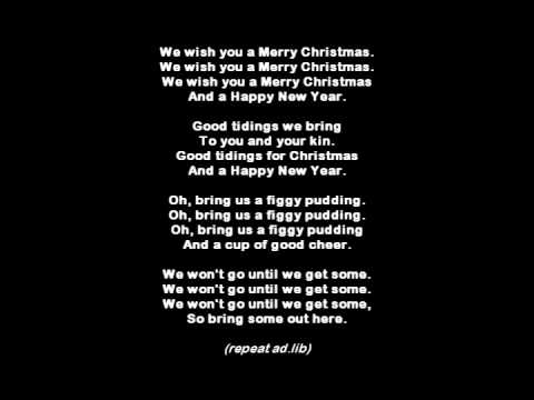 We Wish You A Merry Christmas Lyrics.We Wish You A Merry Christmas Karaoke