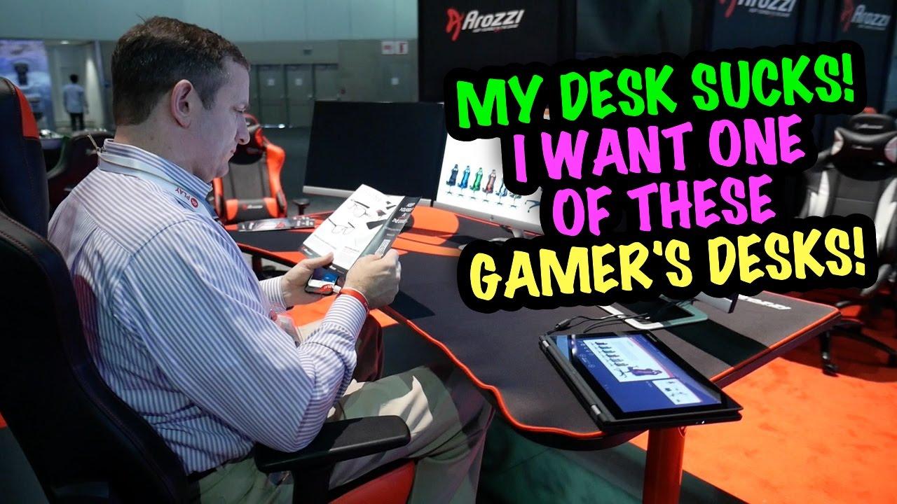 I Want An Arozzi Arena Gaming Desk Bluntye3 You