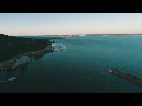 Полет на дроне над Волгой Ульяновск