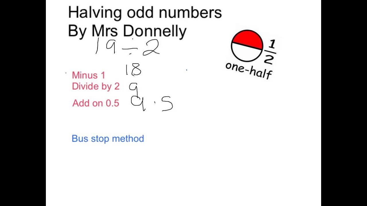 worksheet Doubling And Halving Decimals Worksheets Year 5 halving odd numbers youtube numbers