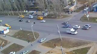 ДТП авария г Волжский пр Ленина ул Академика Королева 16 03 2017 08 51