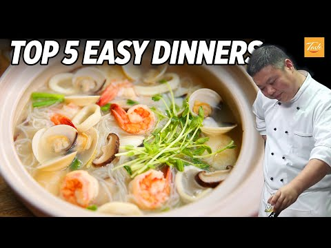 Top 5 Easy Dinner Recipes By Chinese Masterchef | How to Make • Taste Show
