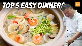 Top 5 Easy Dinner Recipes By Chinese Masterchef  How to Make  Taste Show