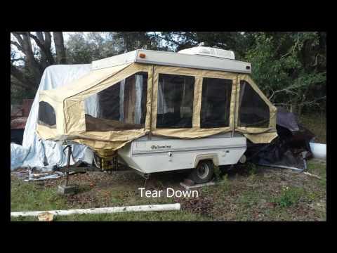 1991 Palomino Pop Up trailer rebuild