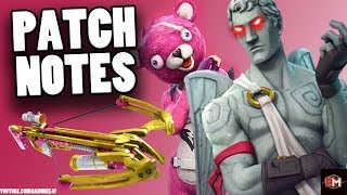 FORTNITE VALENTINES UPDATE! ALL PATCH NOTES | New Crossbow Weapon! ( Fortnite Valentines Event )