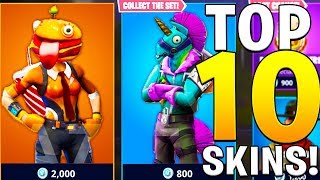 TOP TEN FORTNITE BATTLE ROYALE CUSTOM FAN SKINS!