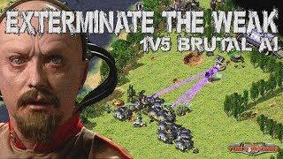 Yuri Battle fortress -  1v5 BRUTAL AI ( Command & Conquer - Yuri's Revenge )