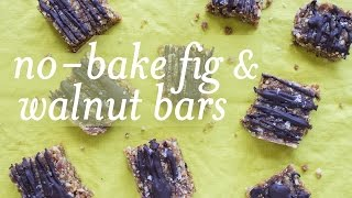 No-bake Fig Walnut Bars