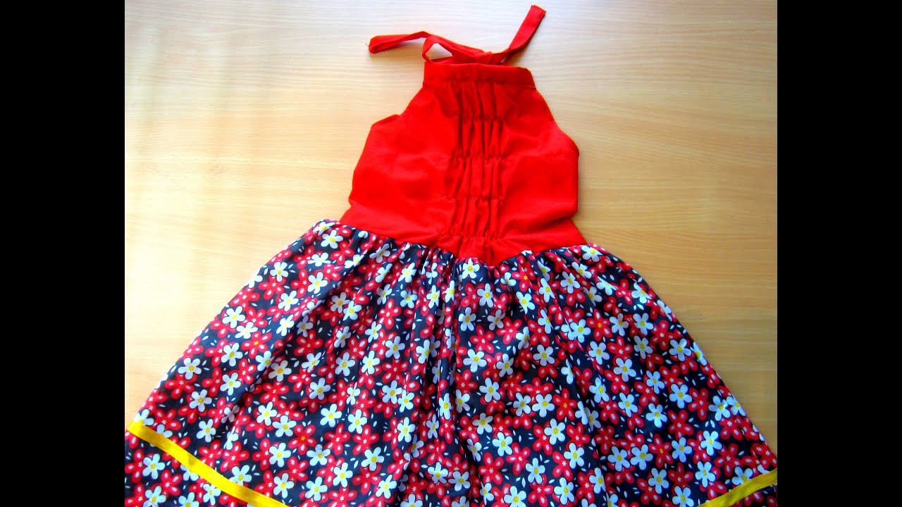HOW TO MAKE SUMMER BACK LESS BACK OPEN BABY DRESS BABY FROCK