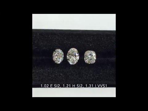 Loose Diamonds Comparison: Oval vs Cushion Cut