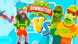 Bowmasters New Z-Days vs Ninja Boy with Zombies Attacking in an Ultimate Bowmasters Tournament