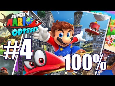 Super Mario Odyssey All Power Moon & Purple Pyramid locations Sand Kingdom 100% Walkthrough Part 4