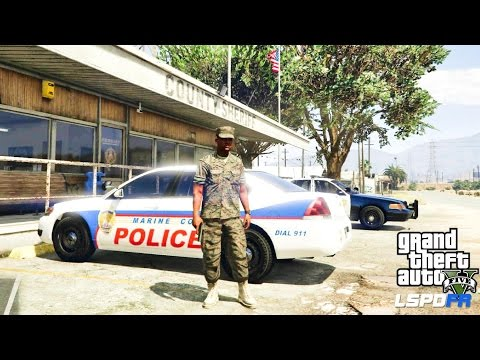 GTA 5 - LSPDFR - EPiSODE 62 - LET'S BE COPS - MILITARY PATROL (GTA 5 PC POLICE MODS) U.S. MARINES