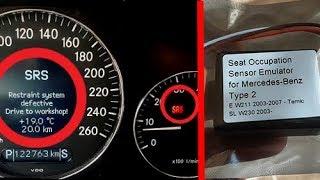 Solution Error SRS - Restraint System Defective on Mercedes / Removing SRS Error Mercedes W211, W219
