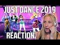 JUST DANCE 2019 TRAILERS REACTION! (Mi Mi Mi alternative, and JDWC thoughts!)