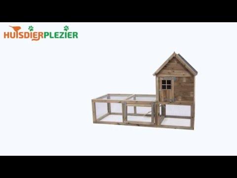 Huisdierplezier.nl | Konijnenhok Fleur | Konijenhok bouwen