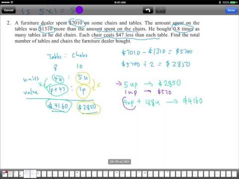 P6 math problem sums - Why I love to do value and units part 2