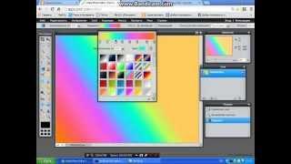 Урок по фотошопу: Как делать фоны в фотошопе онлайн. (Короткое видео)
