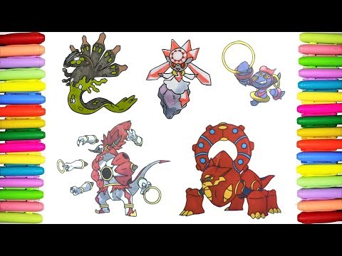 Pokemon list coloring pages for children - 718 to 721