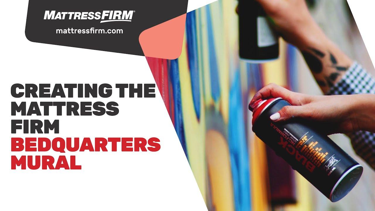 creating the mattress firm bedquarters mural