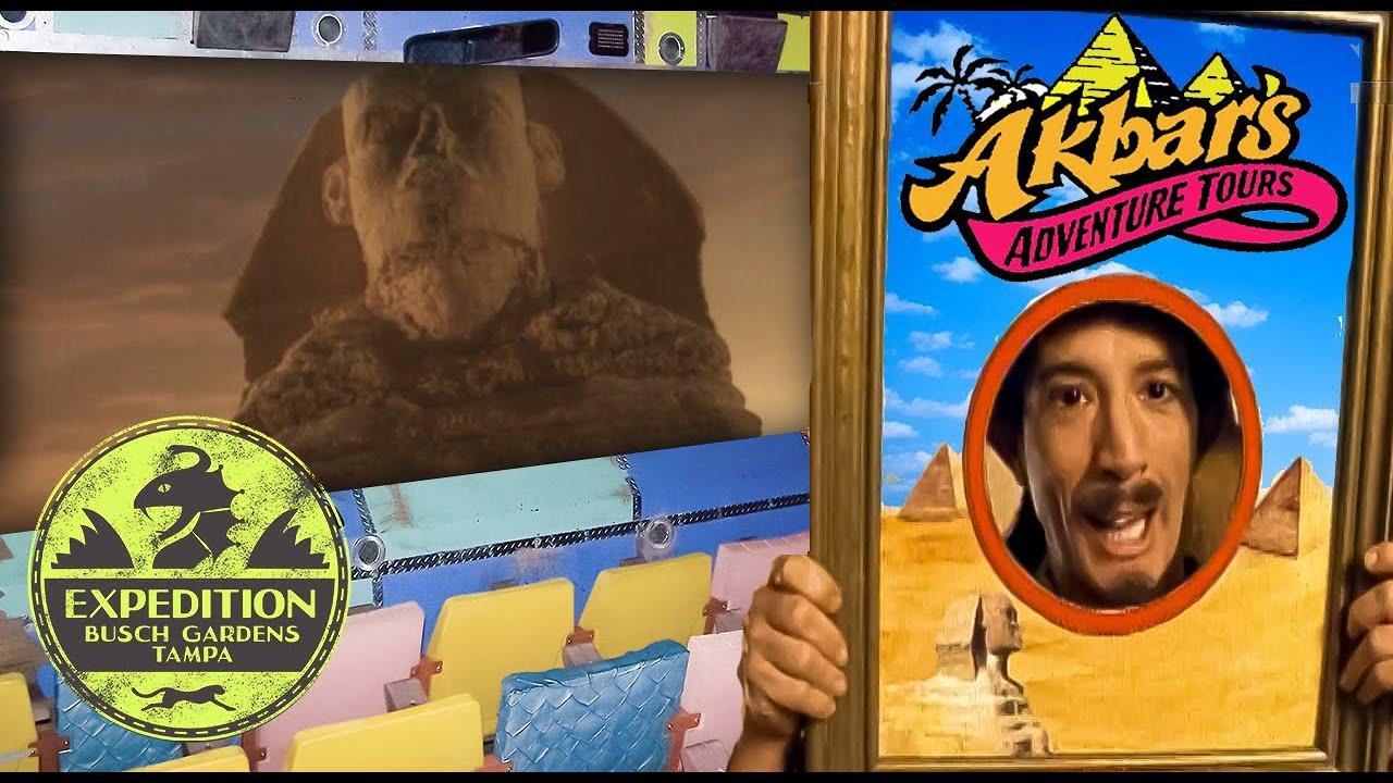 The Abandoned History of Akbar's Adventure Tours - Busch Gardens Strange Forgotten Simulator