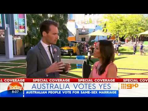 Australia responds with YES to marriage equality - Ch9 Today - 15 November 2017