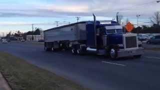 Peterbilt 379 dump truck straight pipes jake brake