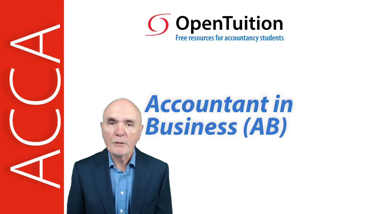 ACCA F1 lectures, Notes and revision tests