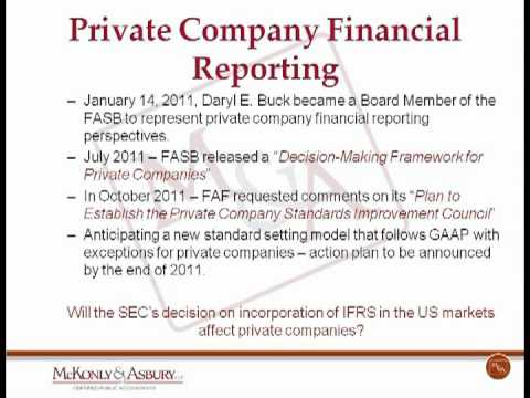 International Financial : Reporting Standards (IFRS)