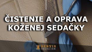 Čistenie koženej sedačky a následná oprava koženej sedačky - www.servis-sedaciek.sk