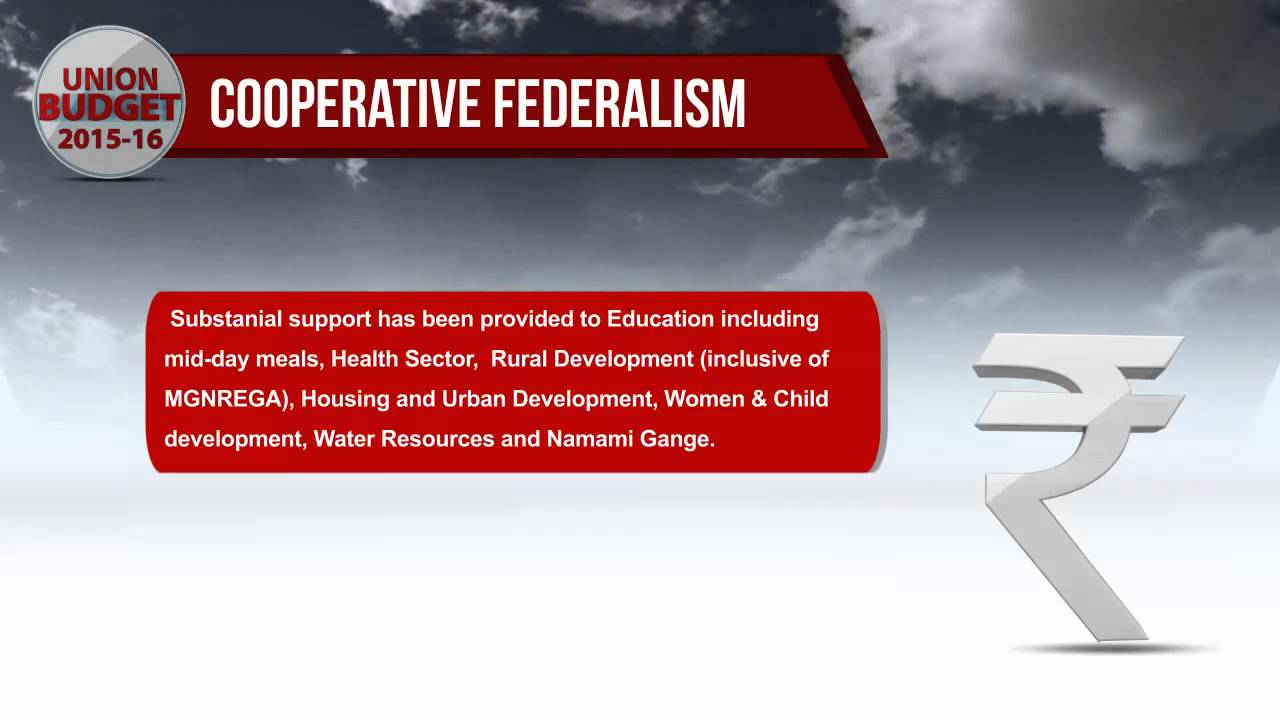 cooperative federalism union budget  cooperative federalism union budget 2015