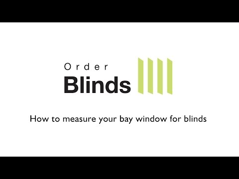 How to measure your bay window for blinds