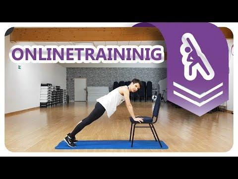 20min | Workout mit Stuhl für Bauch, Brust, Trizeps