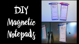 How To Make DIY Magnetic Notepads