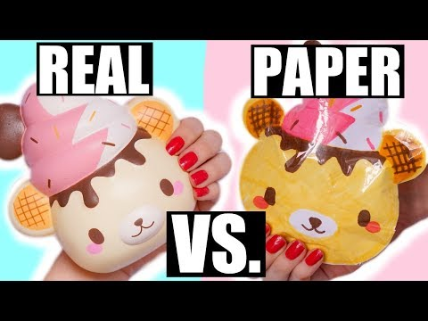 REAL VS PAPER SQUISHY - YUMMIIBEAR BAKERY BUN