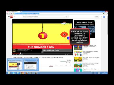 Downloading educational videos for children from YouTube.