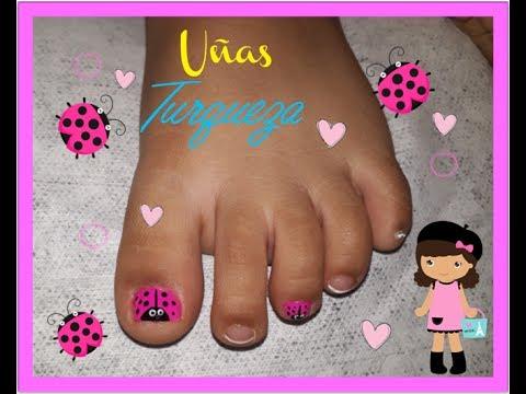 Decoración De Uñas Mariquita Para Niñasnail Decoration For Girls
