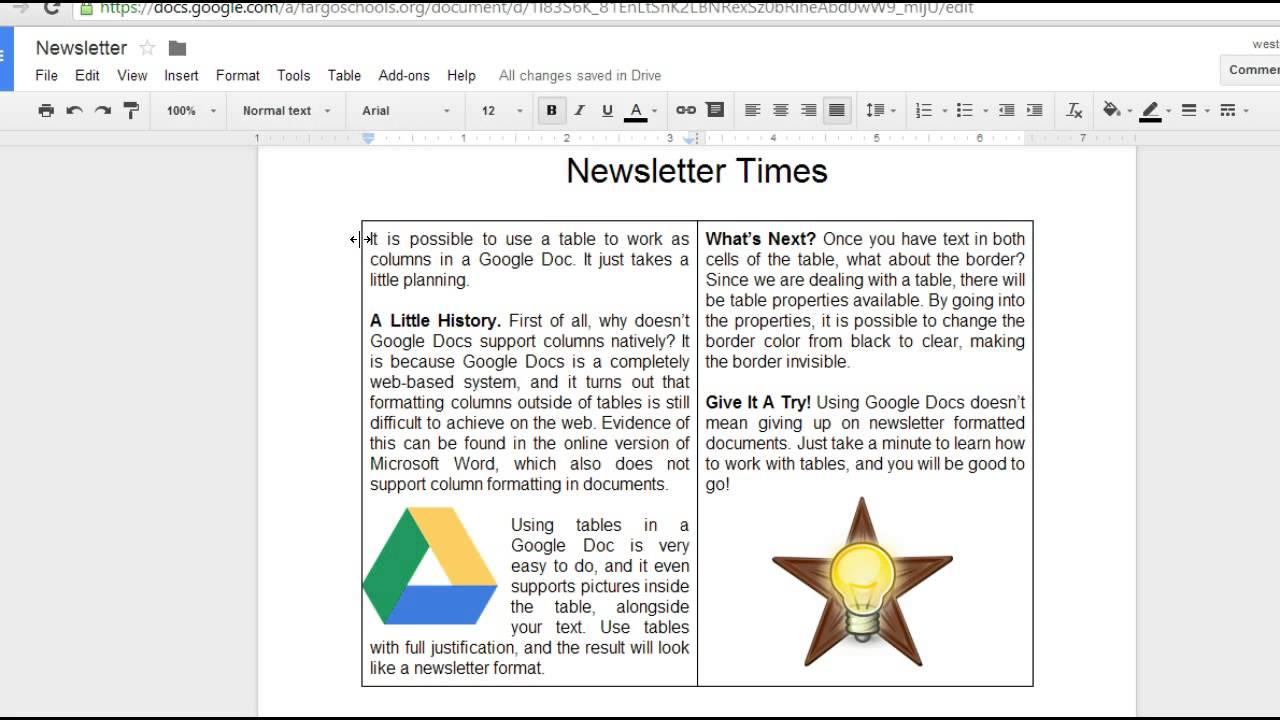 Google Docs Newsletter YouTube - How to create a newsletter in google docs