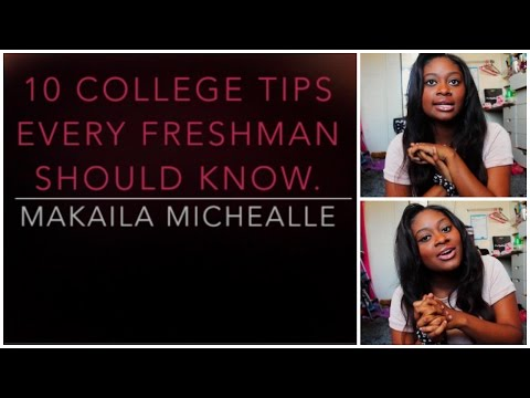 10 College Tips From A College Freshman! ♡