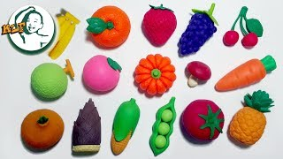 Learn names of fruit and vegetable for toddlers with 3D puzzle