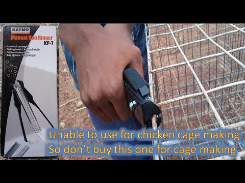 KP-7 |  KAYMO | Manual Hog Ringer |  Hog Ring Plier | Hog Ring | Layer Cage | Layer  Poultry Farm
