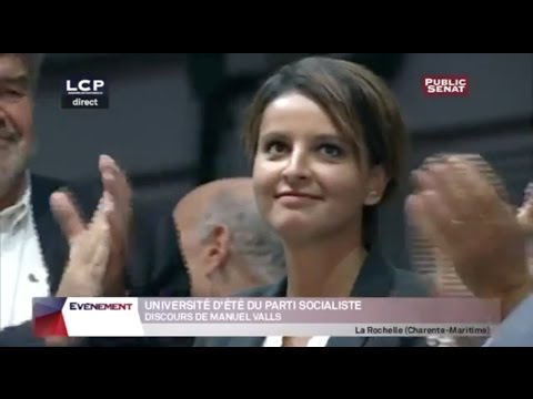Manuel Valls Applaudissez Najat Vallaud Belkacem