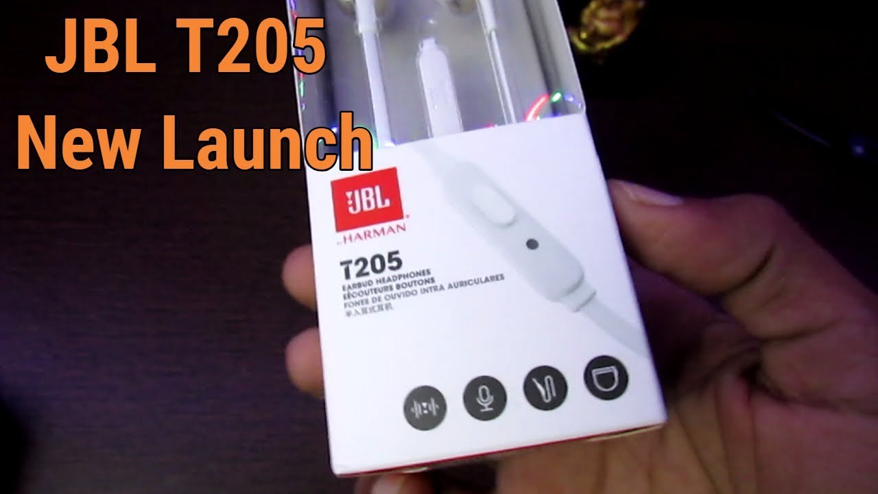 52f9dd9f0a7 JBL T205 Pure Bass Metal Earbud with Mic Unboxing - YouTube