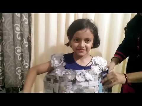 DIY // News paper dress for kids fashion show // Beautiful news paper dress for girls kid
