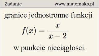 Granice jednostronne funkcji - przykład