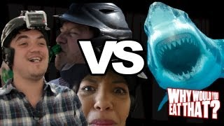 Rotten Shark Meat Challenge with 5 Second Films - Why Would You Eat That? Challenge